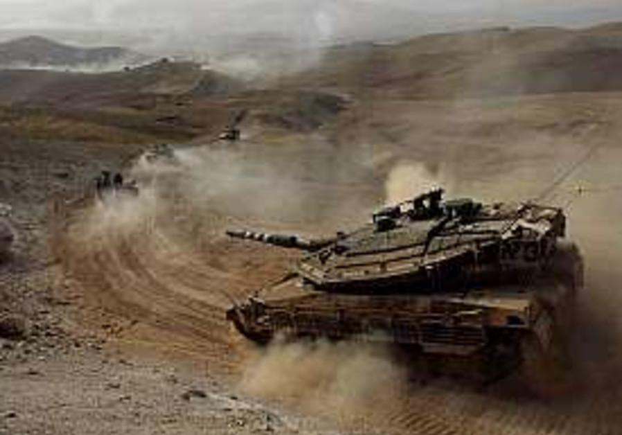 tanks up north in drill IDF 298