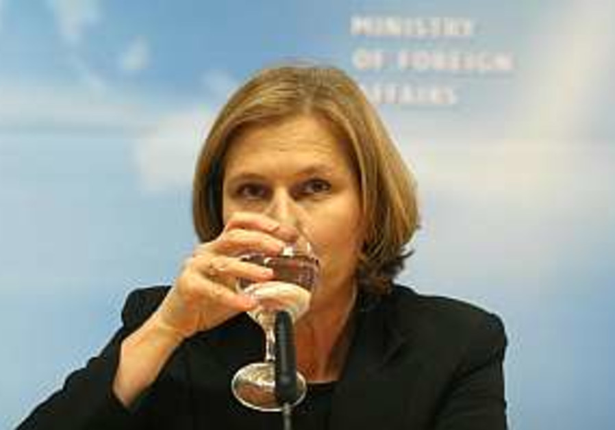 Livni calls on Arab world to unite against extremists