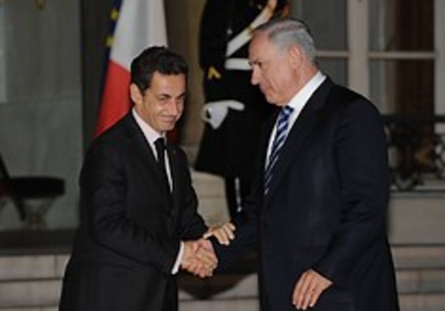 sarkozy and netanyahu in france