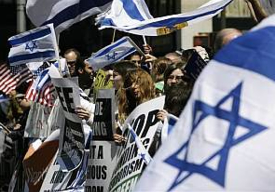 Tens of thousands of supporters of Israel march in NY