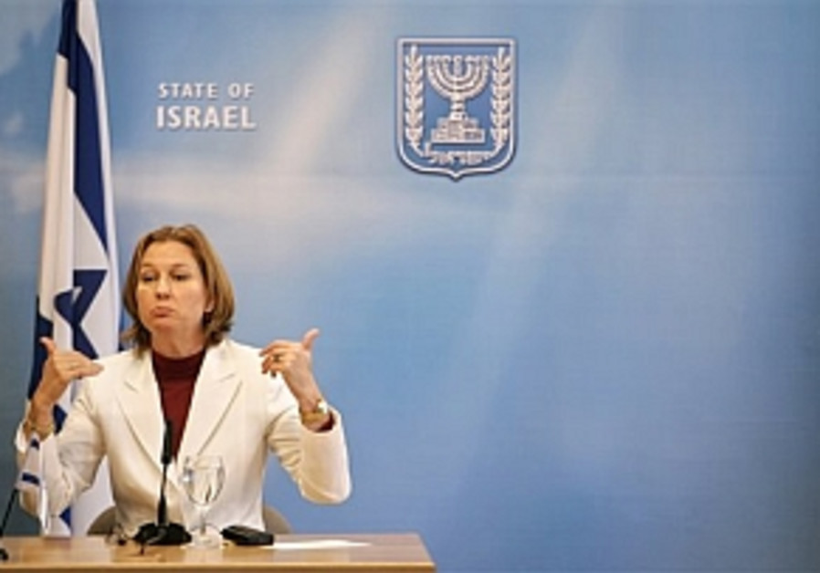 Livni to UNIFIL commander: We want sign of life from our abducted soldiers