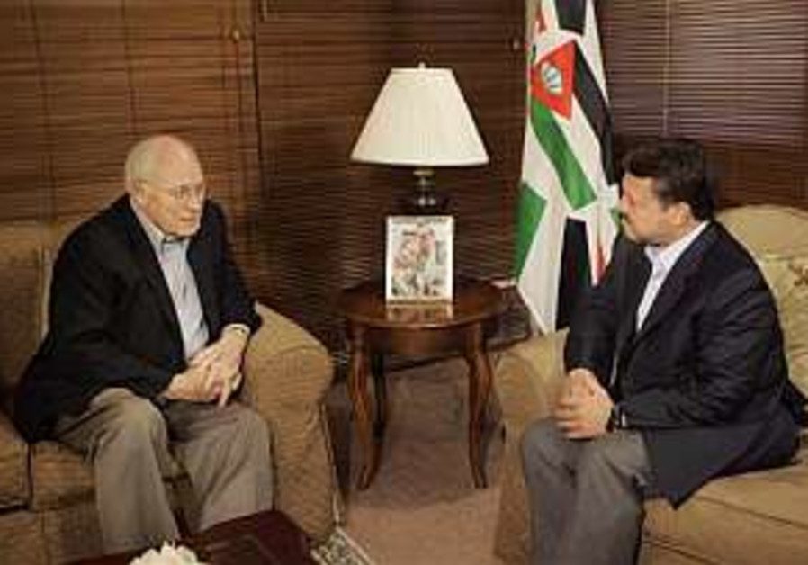 Abdullah to Cheney: Time is running out for Arab peace plan