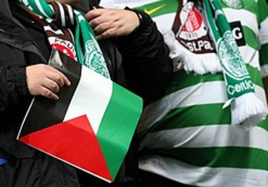 celtic fans palestinian flags 248 88 ap