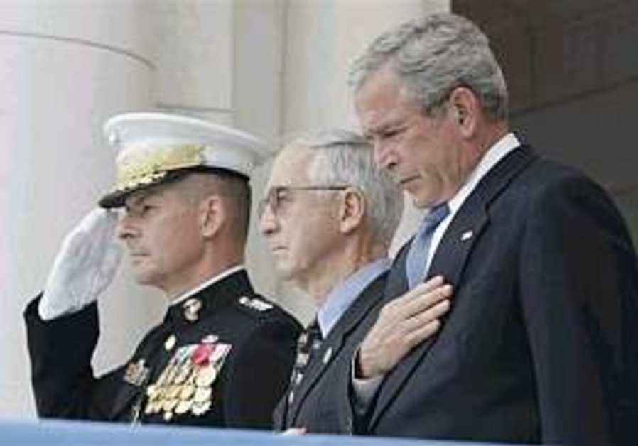 Bush pays tribute to US troops killed in war