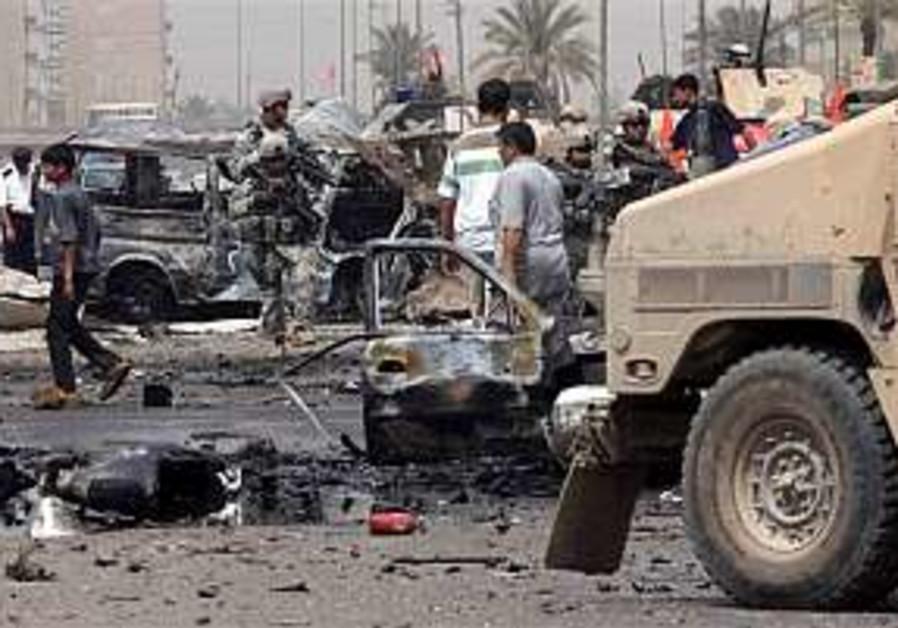 Iraq: Parked car bomb kills 2, wounds 15