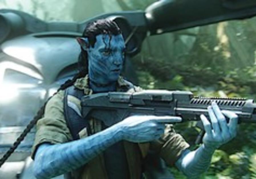 Avatar with gun