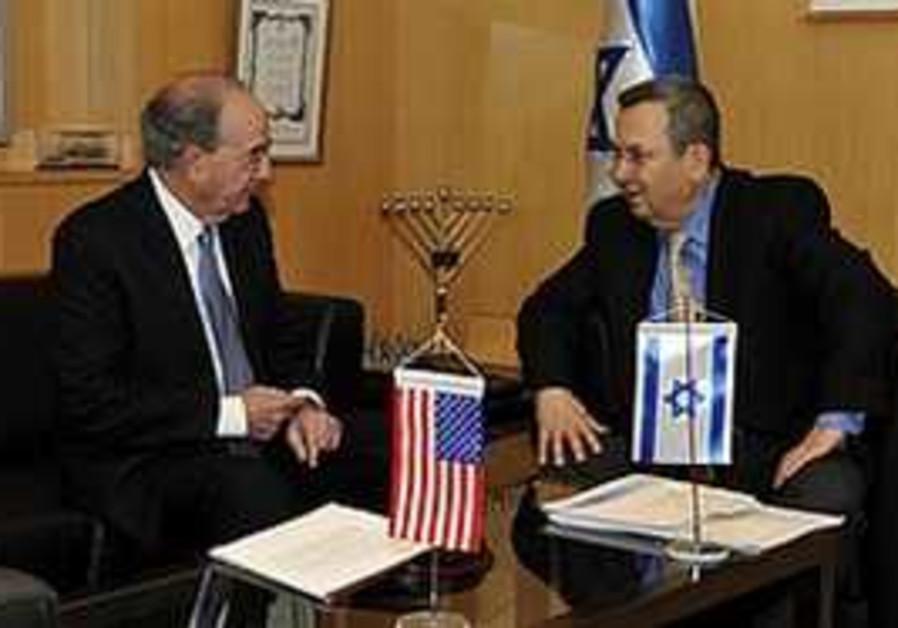 Barak meets with Mitchell in Tel Aviv, Thursday.