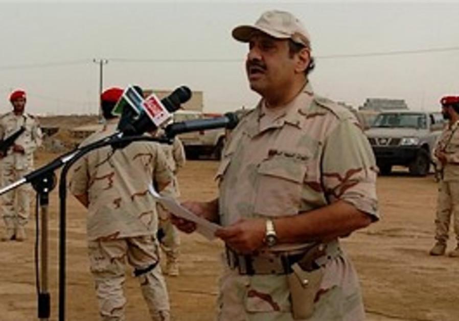 Prince Khaled bin Sultan, right, the Saudi assista