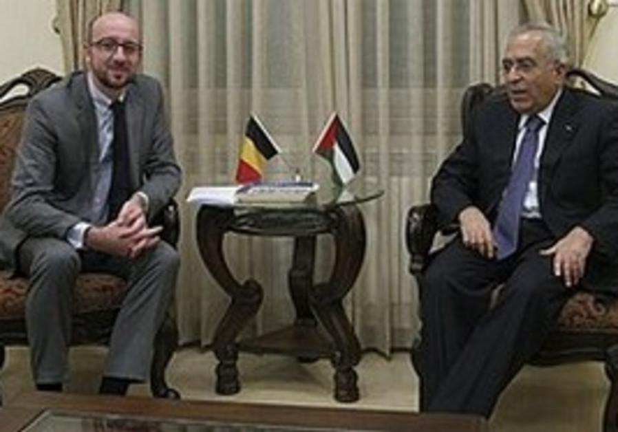 Belgian Minister Michel meets Fayyad in Ramallah,