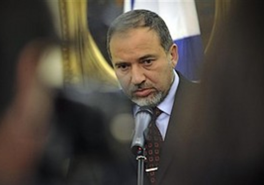 Foreign Minister Avigdor Lieberman on a visit to H