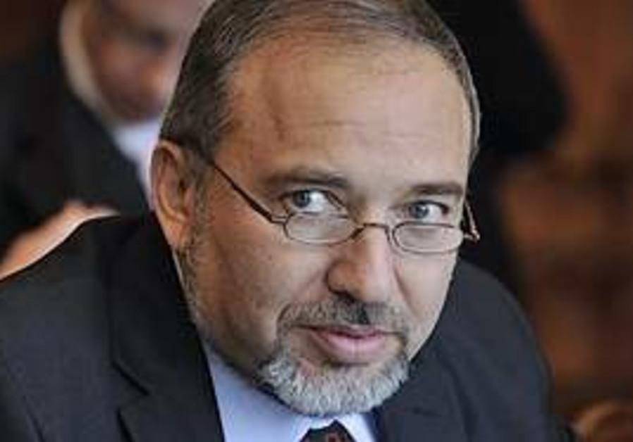 Foreign Minister Avigdor Lieberman in Hungary.