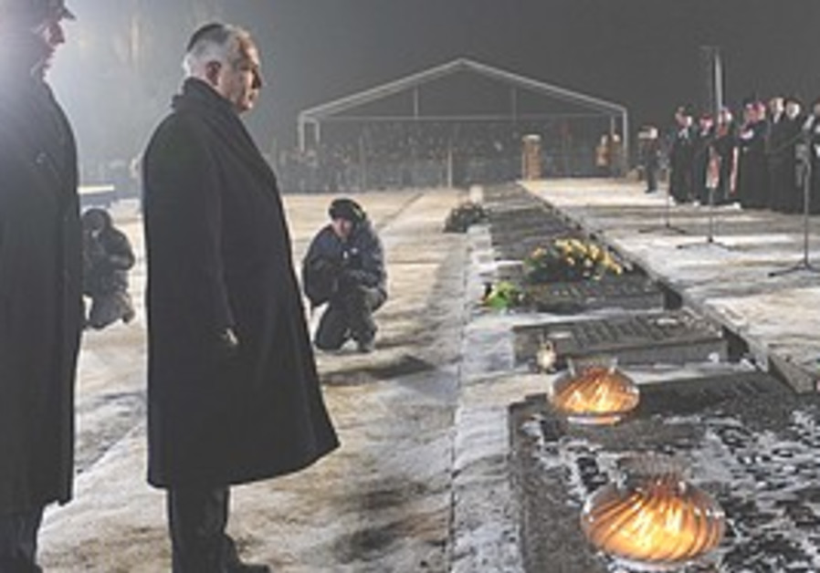 Netanyahu at Auschwitz on Wednesday