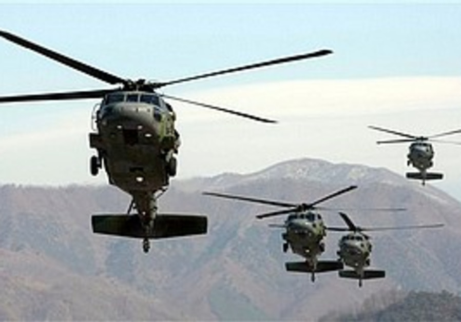 South Korean Army helicopters