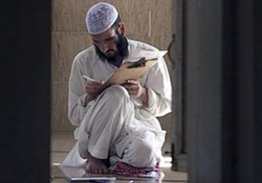 A Muslim religious student.