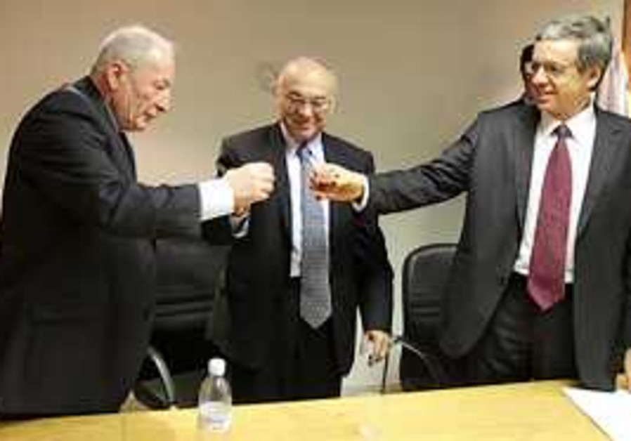 Incoming AG Weinstein with Neeman and Mazuz.