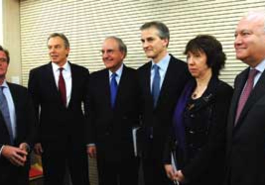 Kouchner, Blair, Mitchell, Støre, Ashton and Morat