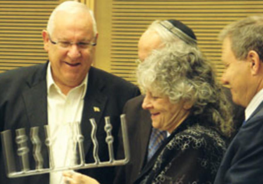 Knesset Speaker Reuven Rivlin (left), Zevulun Olev