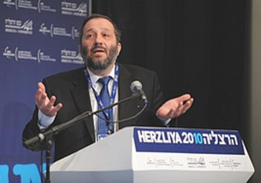 Arye Deri speaks at Herzliya Conference