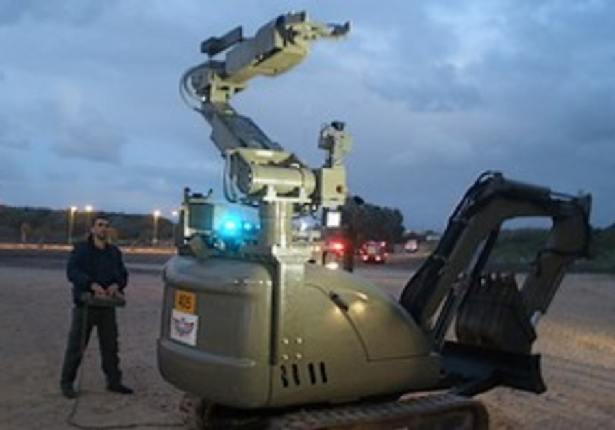 A robot used to dismantle bombs on the Palmahim be