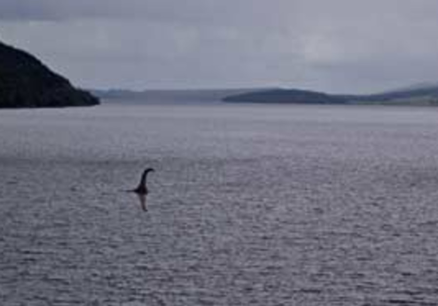 A photomontage of the Loch Ness monster affectiona