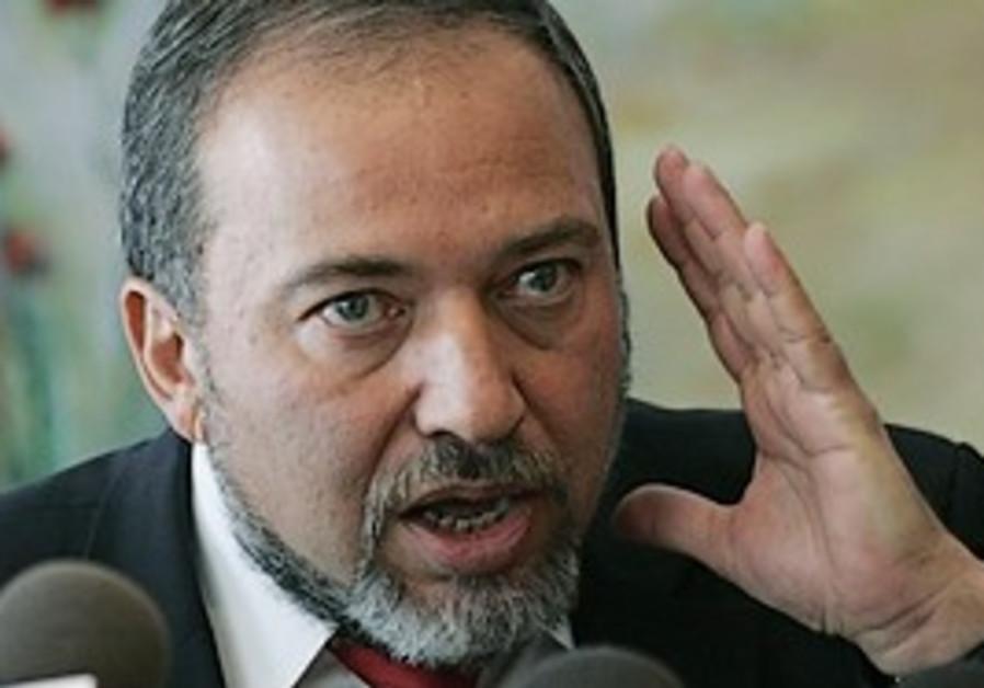 Foreign Minister Avigdor Lieberman.