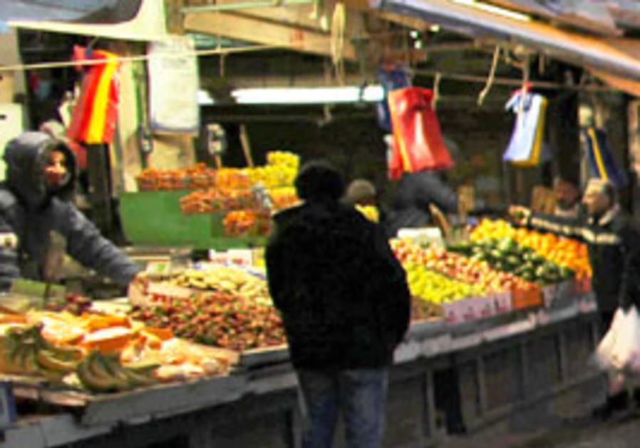 Mahane Yehuda market in Jerusalem.