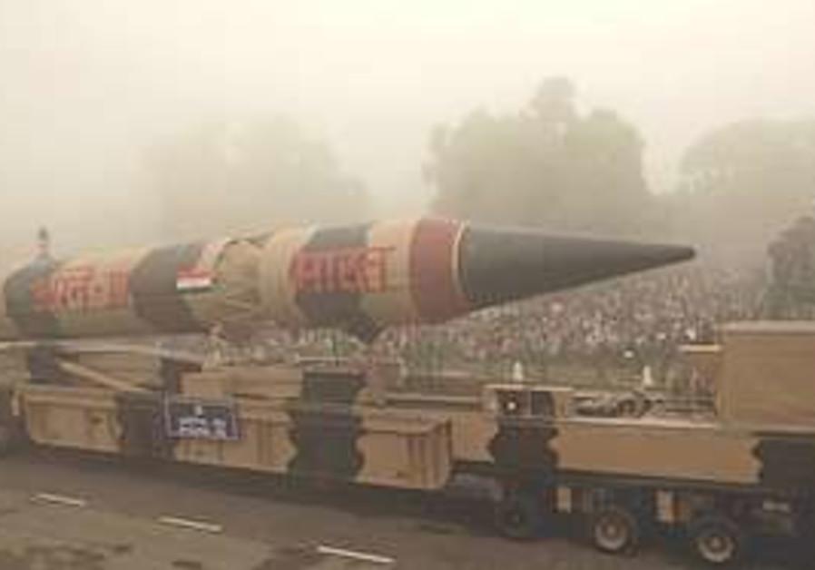 The Indian Agni III missile