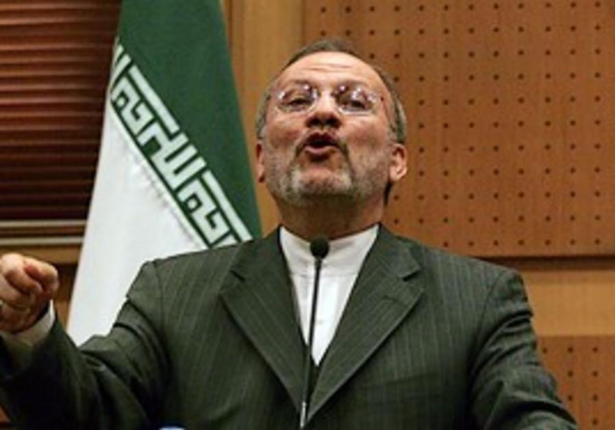Former Iranian foreign minister Manoucher Mottaki.