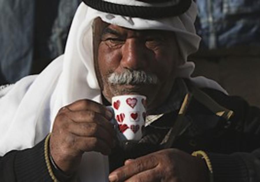A Palestinian man.