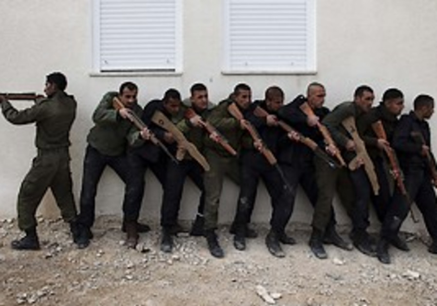 Palestinian Authority security forces train in the