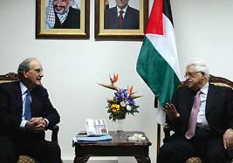 PA President Mahmoud Abbas during a previous meeti