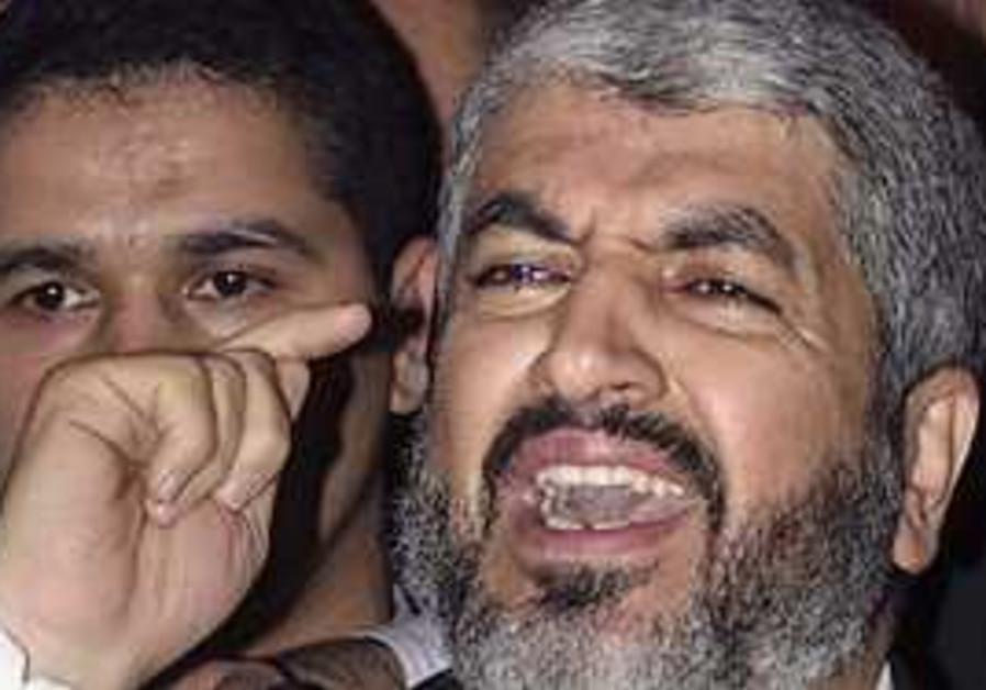 Hamas leader Khaled Mashaal.