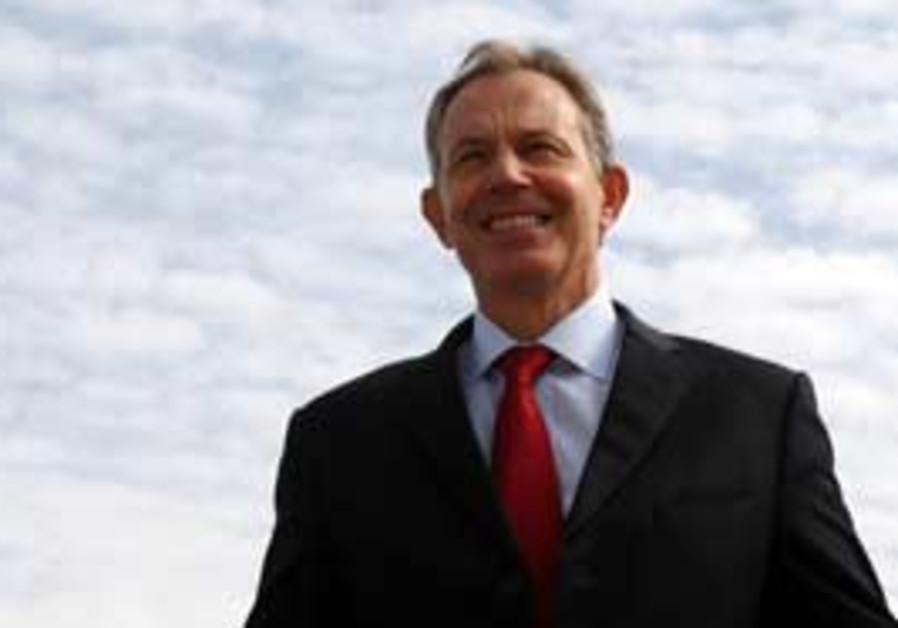 Quartet envoy to the Middle East Tony Blair.