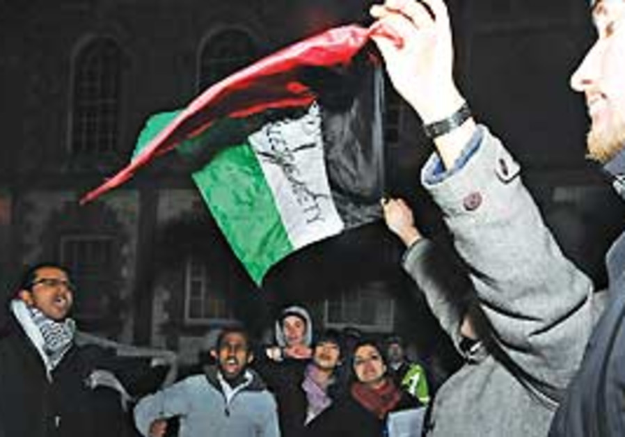 Students protest Ayalon's visit to Oxford