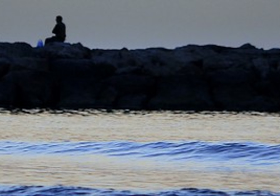 Tel Aviv's Mediterranean beach.