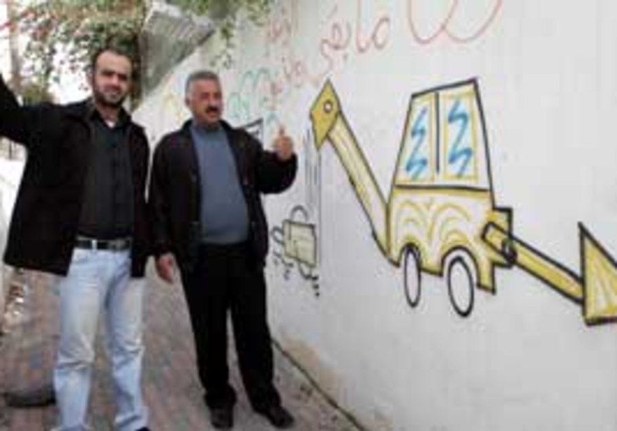 Silwan residents Morad Shafa (left) and Fahkri Abu