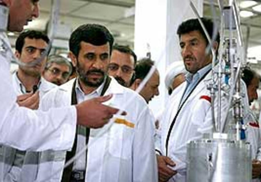 Ahmadinejad visits of the Natanz Uranium Enrichmen
