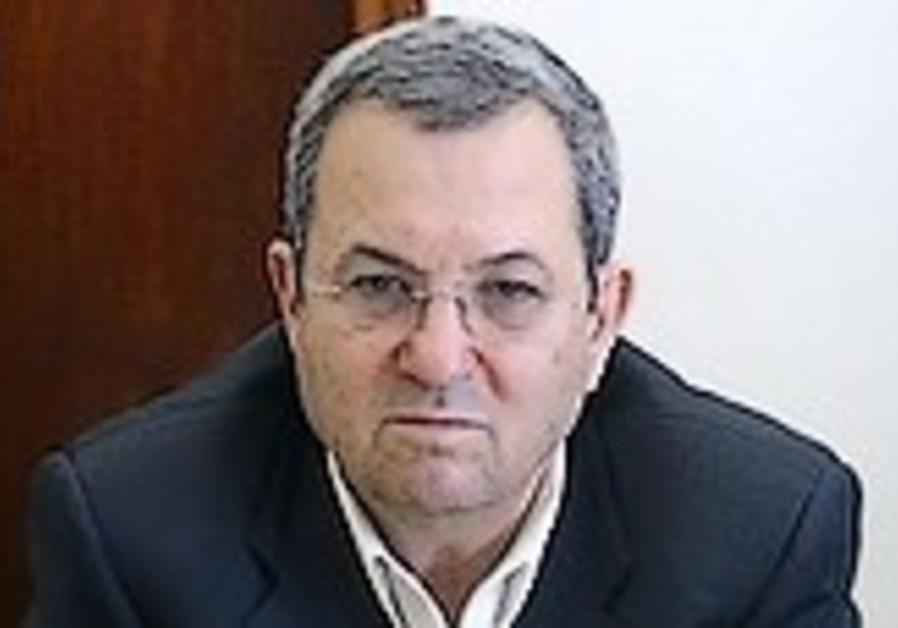 Defense Minister Ehud Barak (Ariel Jerozolimski)
