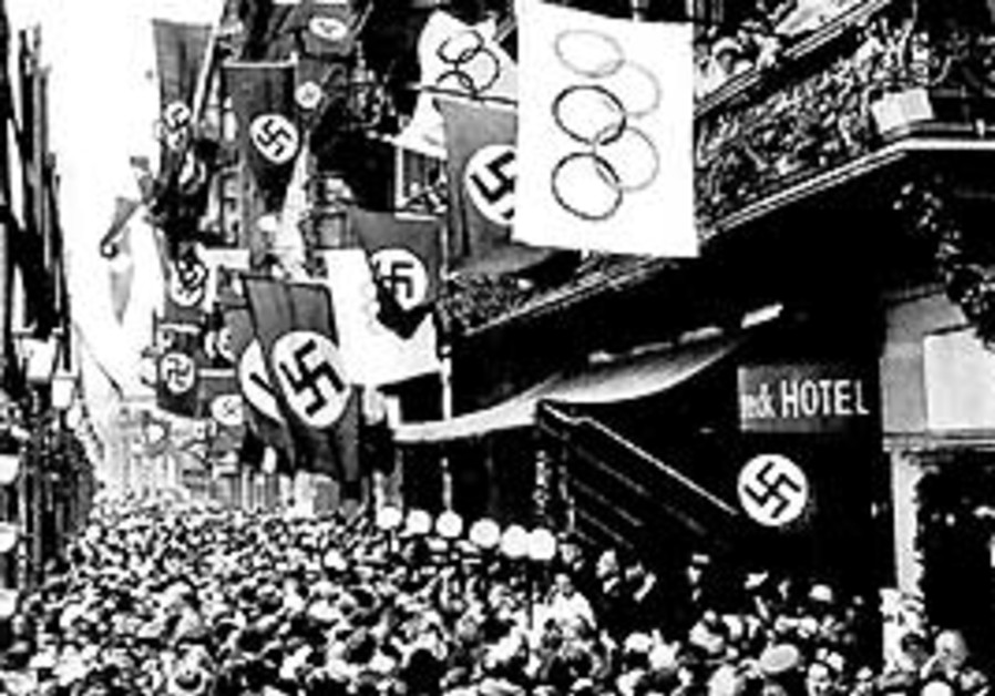 A Berlin street during the 1936 Olympics.