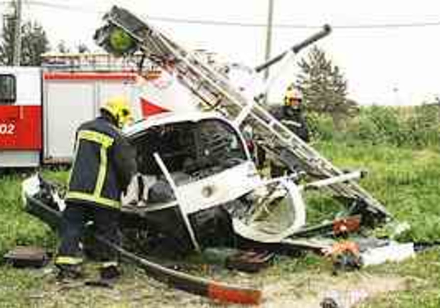The civilian helicopter that crashed on Sunday (Yi