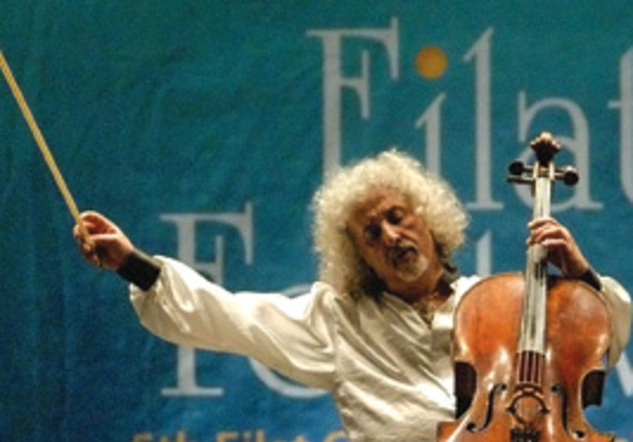 Cellist Mischa Maisky performs in Eilat.