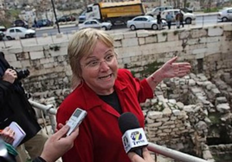 rcheologist Eilat Mazar, who is leading the excava