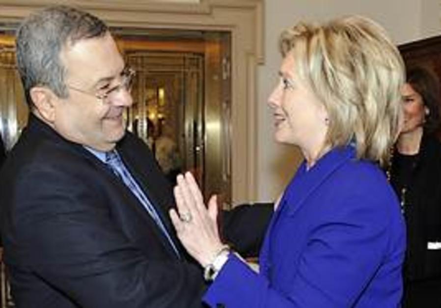 Defense Minister Ehud Barak meets with US Secretar