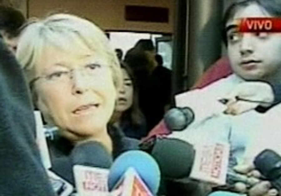 """Chile's President  Michelle Bachelet declares a """"s"""
