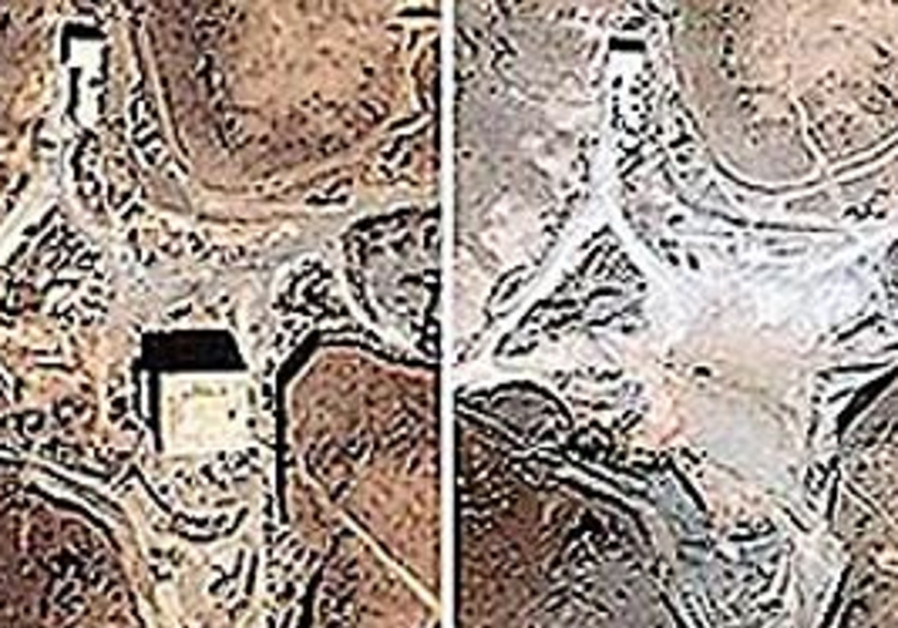 Satellite photos showing suspected Syrian nuclear