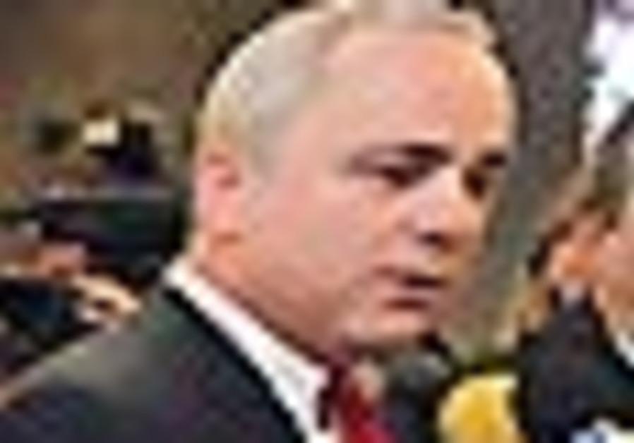 Steinitz speaks to press before cabinet meeting