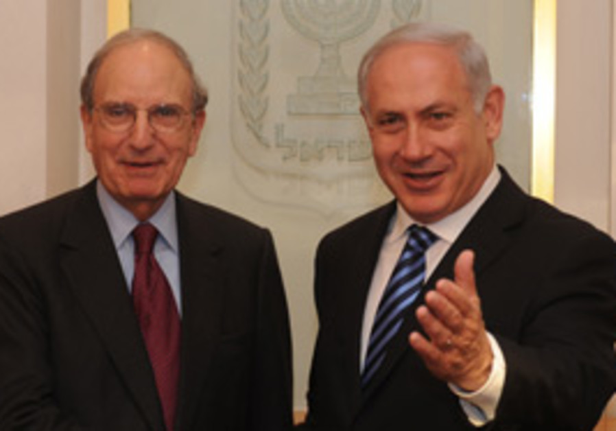 Netanyahu meets Mitchell, Sunday.