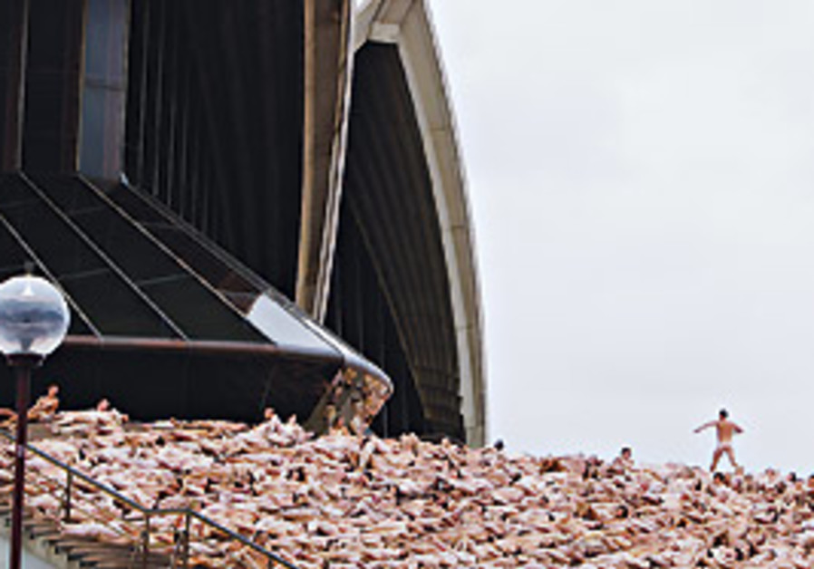 Tunick's last work, near the Sydney Opera (AP).