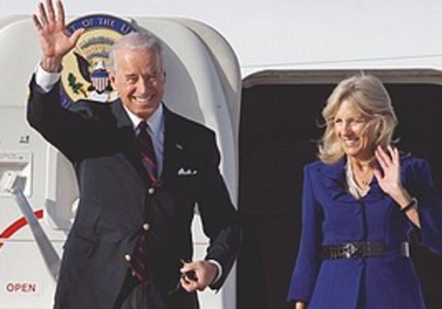 Joe Biden and his wife Jill arrive in Israel.
