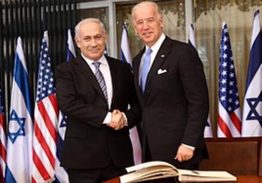 Prime Minister Binyamin Netanyahu and US Vice Pres